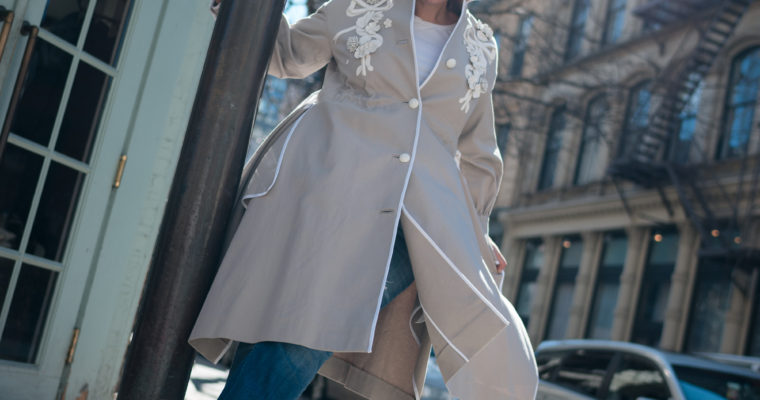 A Spring Trench Doesn't have to be boring beige!