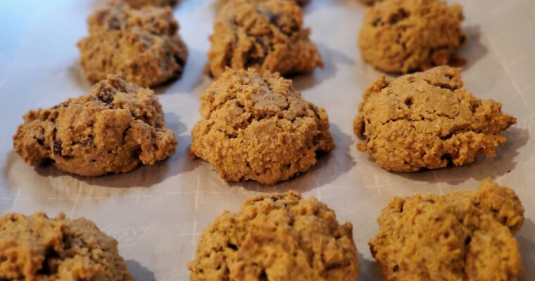 Quinoa Almond Chocolate Chunk Cookies