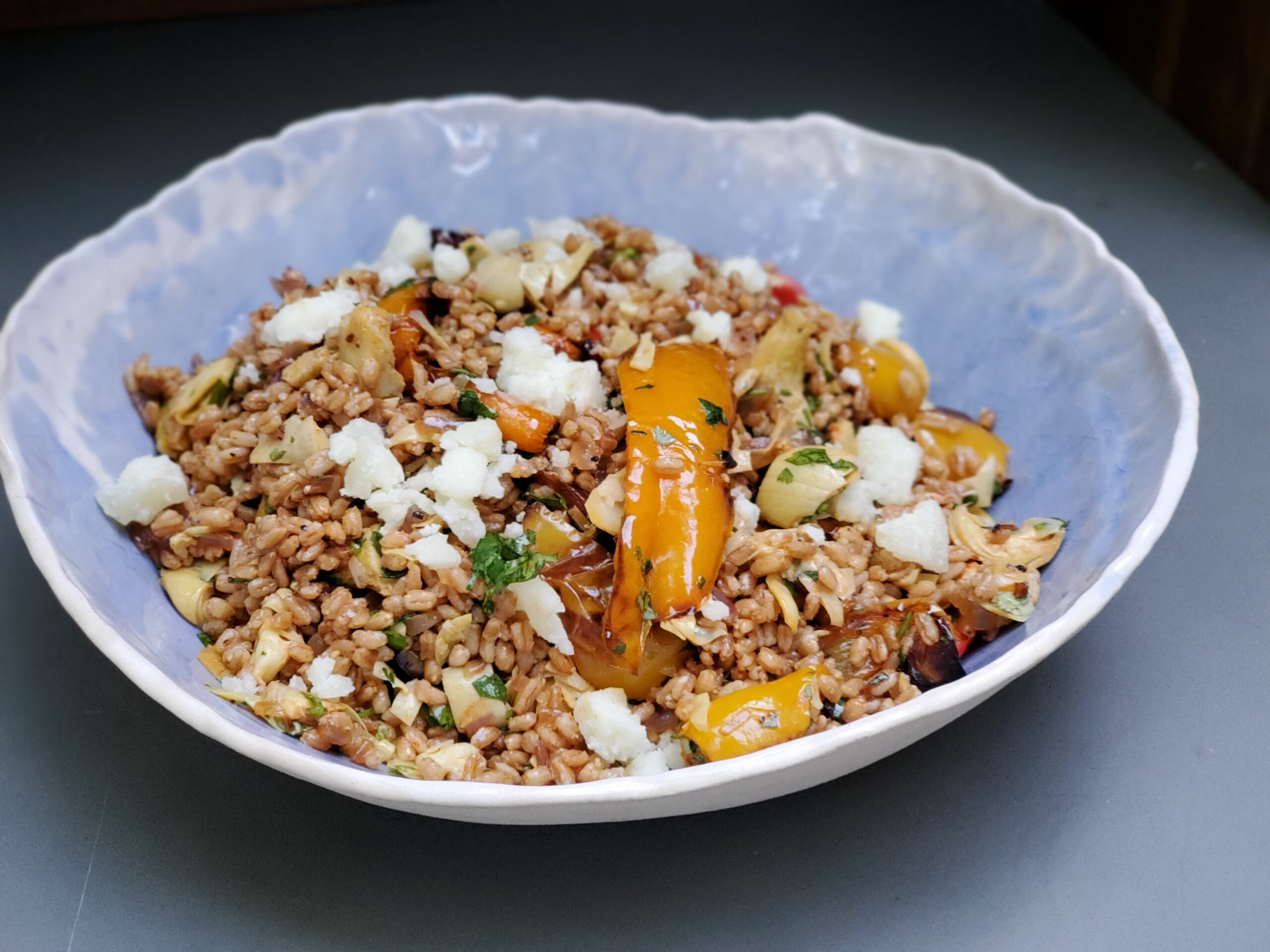 Farro Salad w/Roasted Peppers & Artichokes
